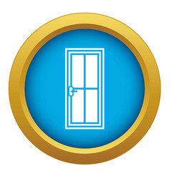 Glass door icon blue isolated vector