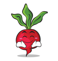 Happy face radish character cartoon collection vector