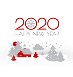 happy new 2020 year christmas flyer with winter vector image