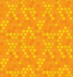 hexagon honey bee nature seamless pattern vector image