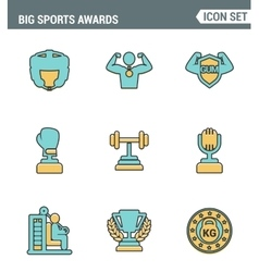 Icons line set premium quality of big sports vector
