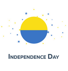 independence day of ukraine patriotic banner vector image