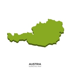 Isometric map of austria detailed vector