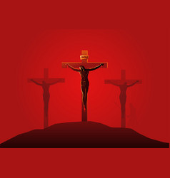 Jesus dies on cross vector