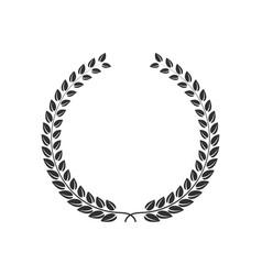laurel wreath icon shape silhouette champion vector image