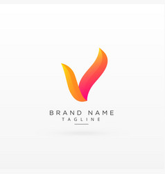 Letter v creative colorful logo concept design vector