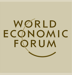 Logo world economic forum in davos vector