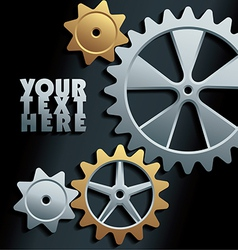 machine gears background vector image