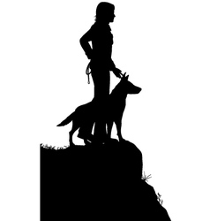 Man and dog vector image