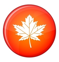 Maple leaf icon flat style vector