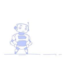modern robot cute bot helper artificial vector image