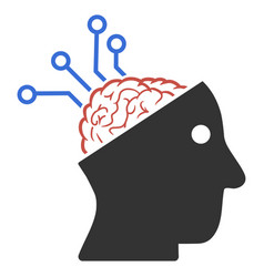 Neural interface links icon vector