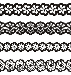 Ornamental borders vector