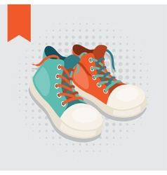 Pair hipster gumshoes vector