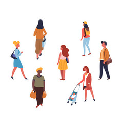 People walking or on shopping adults teen vector