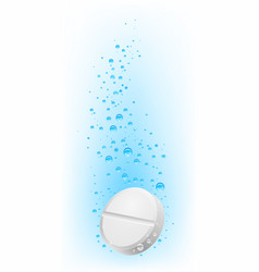 pill in water on white background for creative vector image