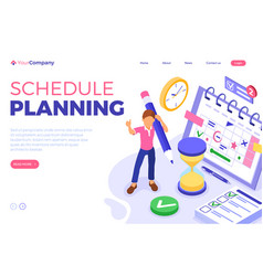 Planning schedule time management vector