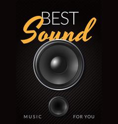 Realistic loud speaker advertising poster vector