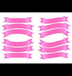 Ribbon banner pink vector