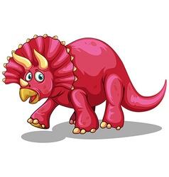 Rubeosaurus with sharp horns vector