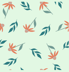 seamless simple floral pattern with flowers vector image
