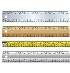 set rulers vector image