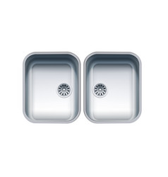 stainless steel sink vector image