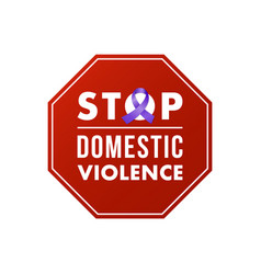 Stop domestic violence stamp concept social vector