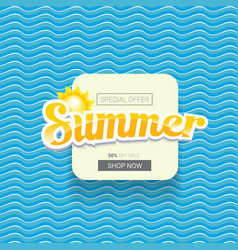Summer sale bright label design template vector