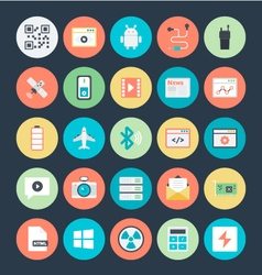 Technology and Hardware Colored Icons 3 vector image