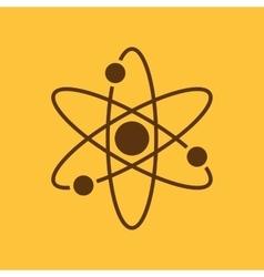 The atom icon Atom symbol Flat vector image vector image