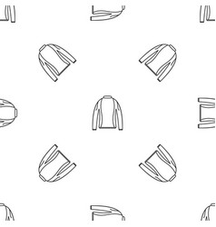 Thermo clothes pattern seamless vector