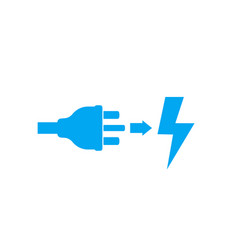 uk electric plug electricity icon on white vector image