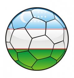 uzbekistan flag on soccer ball vector image