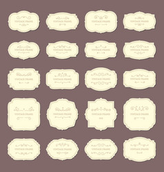 Vintage frame labels rectangle and oval wedding vector