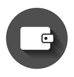 wallet icon money purse flat money bag business vector image