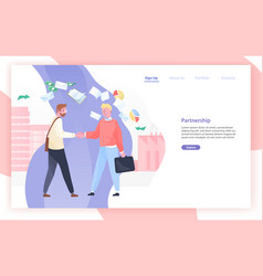 Web banner or website template with pair of vector