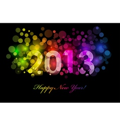 2013 colorful background vector image