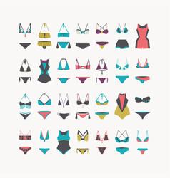 beautiful women swimwear - bikini swimsuit vector image