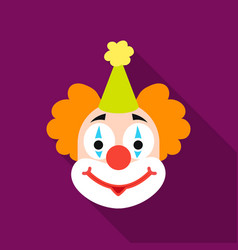 clown icon in flat style isolated on white vector image