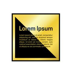 golden frame template vector image