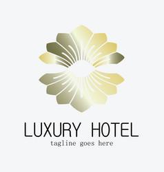 luxury hotel logo vector image