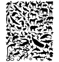 silhouette animals vector image
