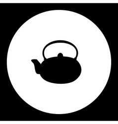 simple teapot china porcelain silhouette icon vector image vector image