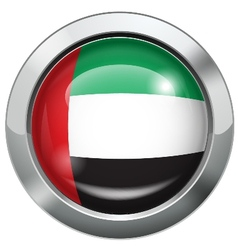 United Arab Emirates flag metal button vector image