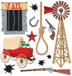 wild west clip art icons vector image