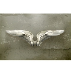 Wings old style vector image