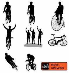 bike silhouettes vector image vector image