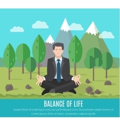 Businessman meditating vector image