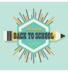 Happy back to school colorful sun burst icon vector